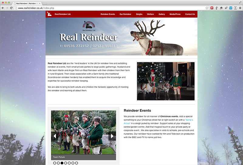 Real Reindeer Website